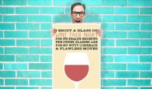 I Enjoy A Glass Of  Wine Each Night Witty Comeback and Flawless Dance Moves Art - Wall Art Print Poster Pick A Size - Typography Art Geekery